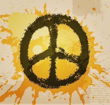simbolo de paz: ilustración de signo de la paz