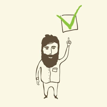 check box: person with check mark