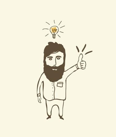 prodigio: bulbo concetto di disegno