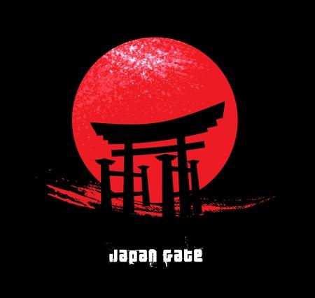 安らぎ: 日本のゲート  イラスト・ベクター素材