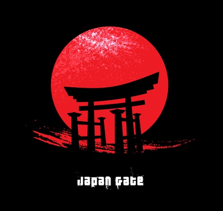 japanese background: Japan Gate Illustration