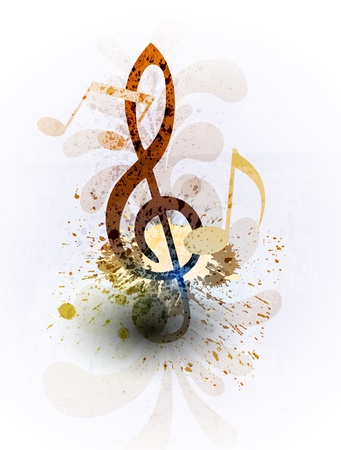 rainbow background: Abstract music background Illustration