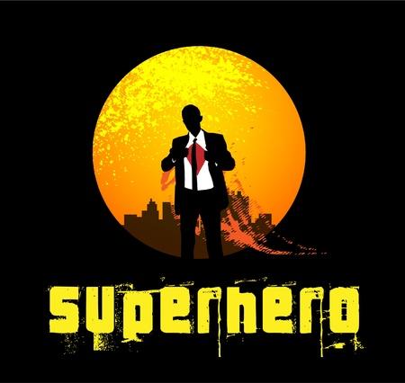スーパー ヒーロー背景