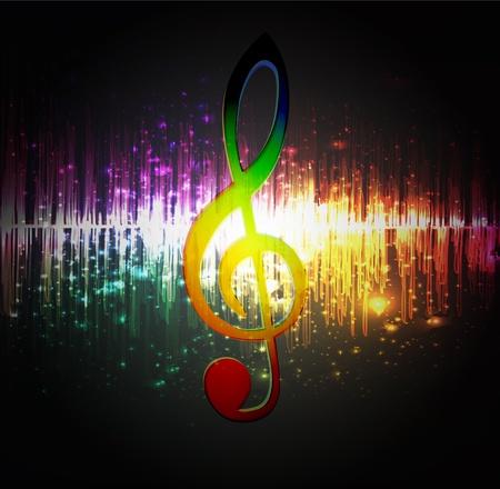 Abstracte muziek achtergrond Stock Illustratie