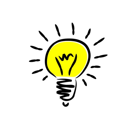 thinking icon: light bulb Illustration