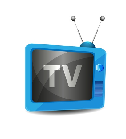 Cute retro tv vector Vector
