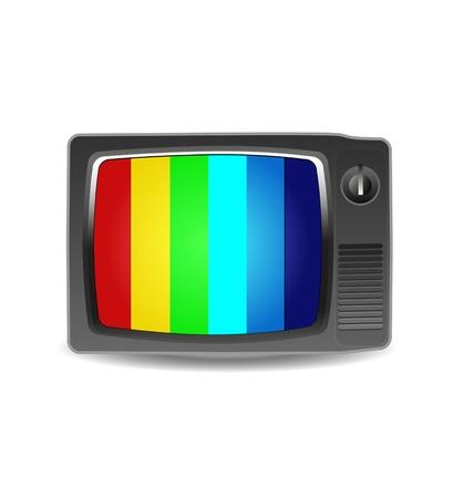 Cute retro tv vector Stock Vector - 11837529