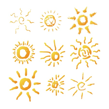 Sun symbol illustration hand drawn Stock Vector - 11911598