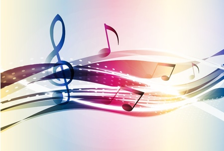 sheet music: Abstract music background Illustration