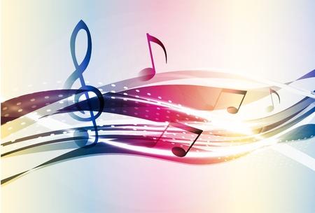 spartiti: Musica di sottofondo abstract Vettoriali