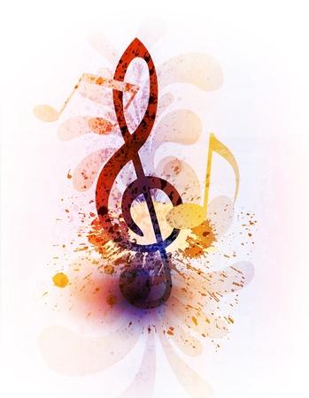抽象音楽の背景  イラスト・ベクター素材