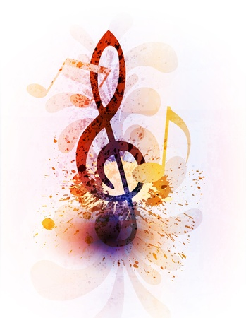 notes music: Abstract music background Illustration