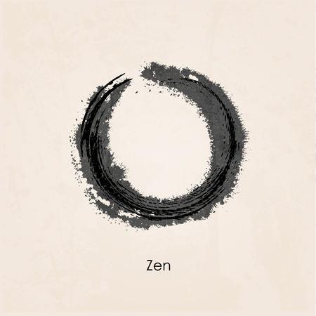 zen stone: Zen calligraph