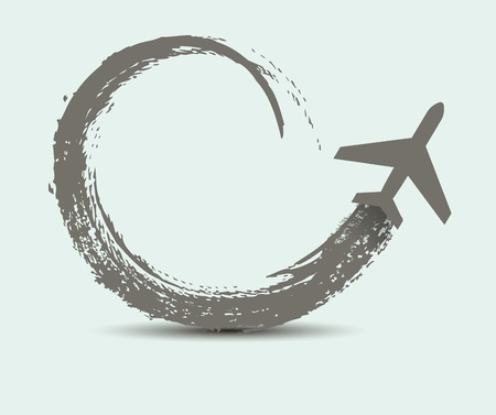 transporteur: chemins d'avions civils Illustration