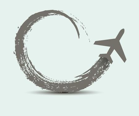 civil airplane paths