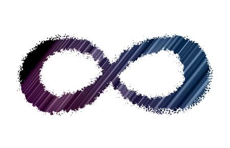signo infinito: Infinity s�mbolo. Vector.
