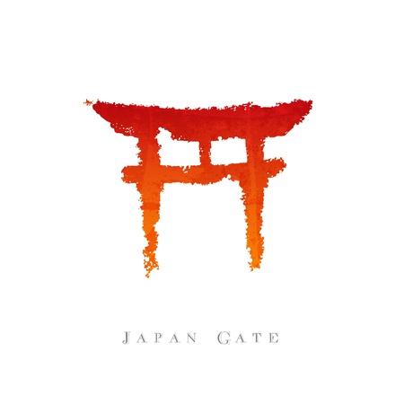 Le Japon porte la calligraphie Vecteurs