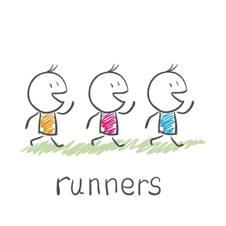atleta corriendo: los corredores Vectores
