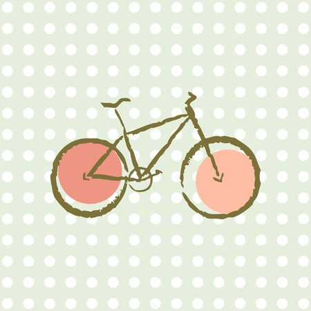 old retro bicycle Vector
