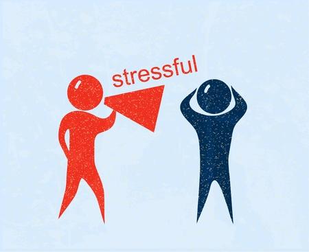 gente loca: Estresante. Cartel retro