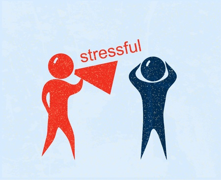 Stressful. Retro poster Vector