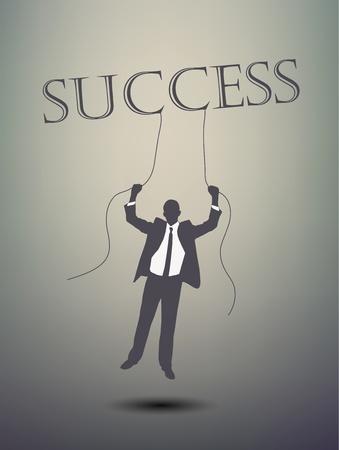 man looking at sky: successful businessman Illustration