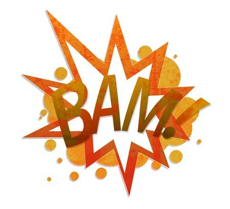 cartoon bomb: bam