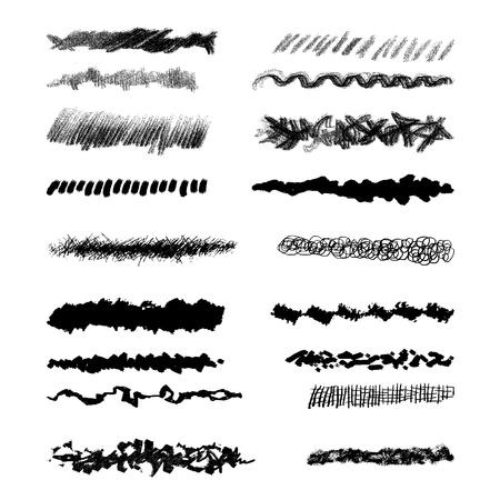 Brush-blot, grunge design elements