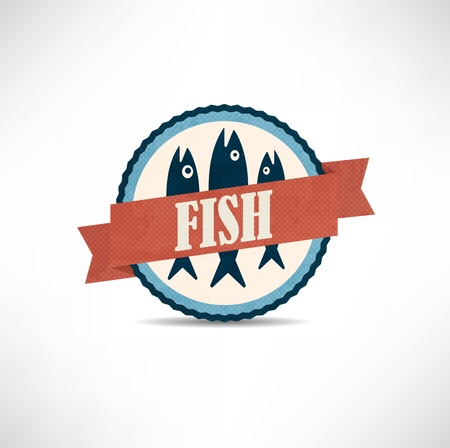 vintage retro fish  labels Vector