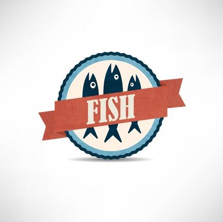 vintage retro fish  labels Stock Vector - 12011675
