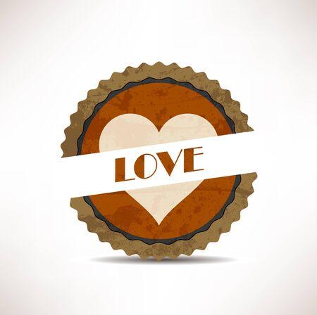 love stamp: vintage retro love  labels