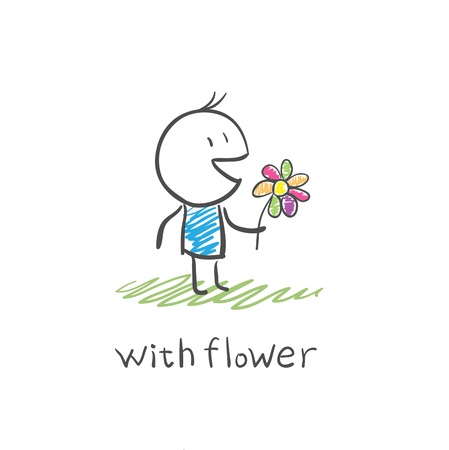 suitor: boy with a flower
