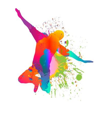 baile hip hop: bailar�n Vectores