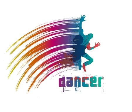 baile hip hop: bailarín Vectores