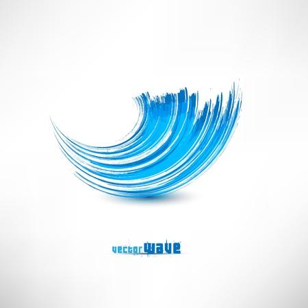 青い波の記号