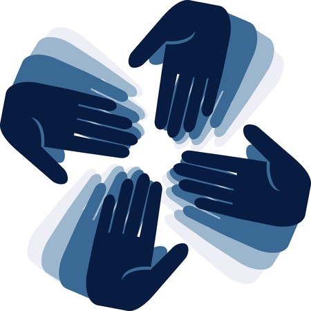 hands connecting Stock Vector - 12065169
