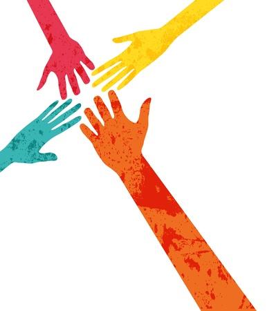 conexiones: manos de conexi�n Vectores