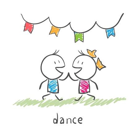 dancing couple Stock Vector - 12065198