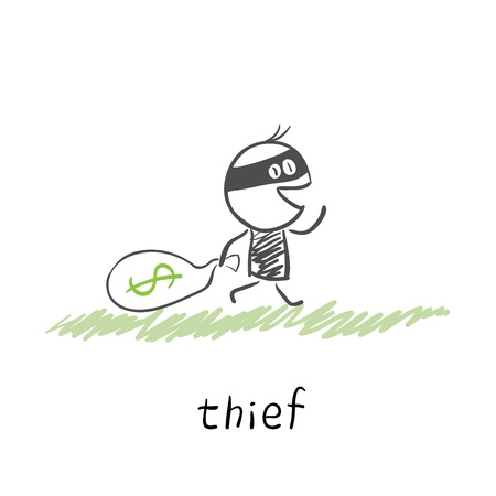 burglar man:  thief