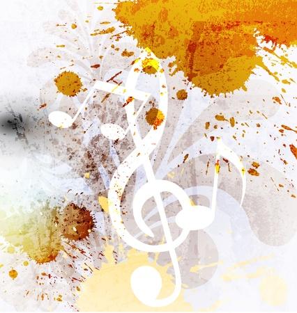 Abstracte achtergrond muziek Stock Illustratie