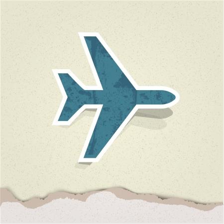 saubere luft: Vector Flugzeug Illustration