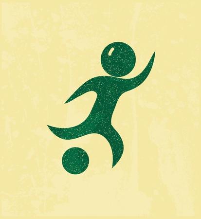 soccer boots: Soccer player Illustration