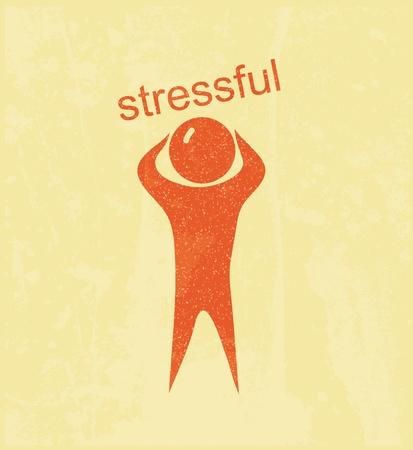 stressful: Stressful. Retro poster