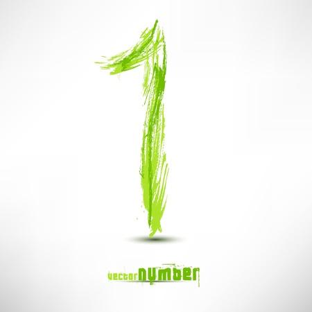 Vector illustratie met de hand schrijven. Grunge groene gras golf.