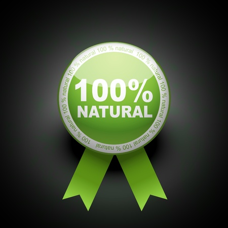 Ecologia web spinta icona del pulsante. 100 percento