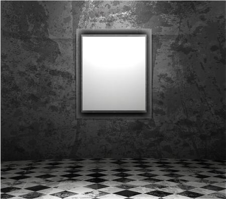 picture frame in grunge empty interior Stock Vector - 12153828