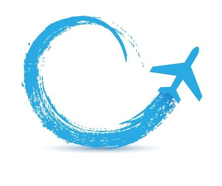 civiele vliegtuigen paden icoon Stock Illustratie