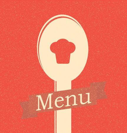 restaurant menu retro poster Stock Vector - 12153840
