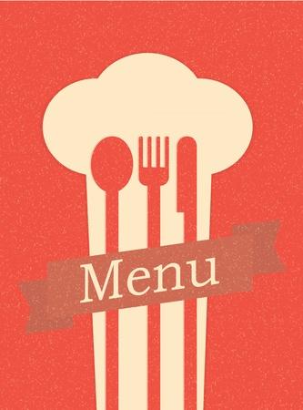 restaurant menu retro poster Vector