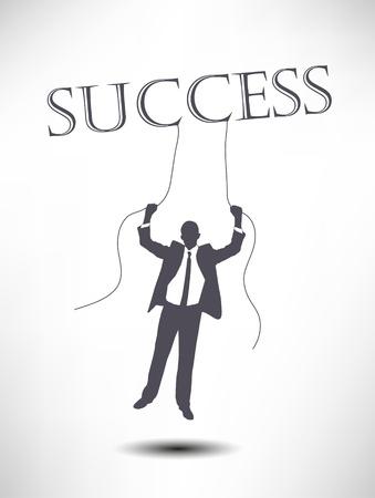 successful businessman Çizim